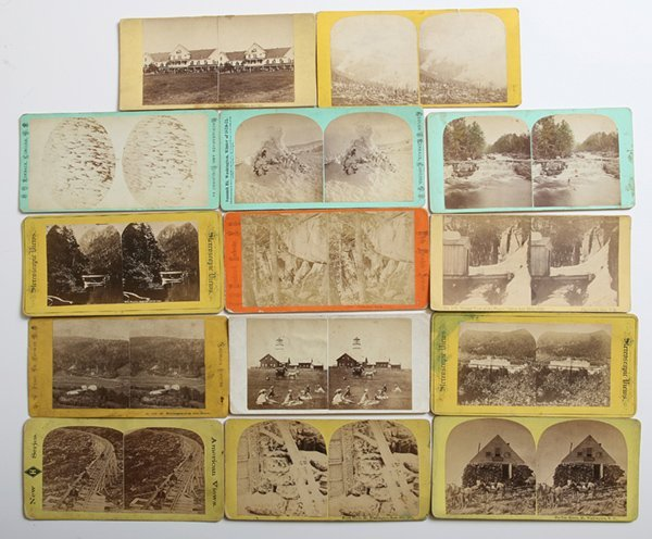 14 EARLY WHITE MOUNTAIN & VICINITY STEREOVIEWS