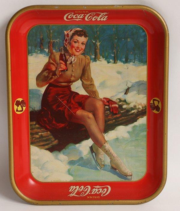 1941 SKATER GIRL COCA-COLA TRAY