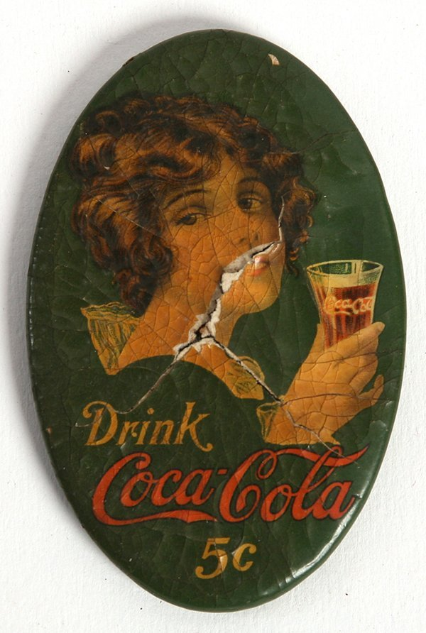 RARE ORIGINAL 1914 COCA-COLA POCKET MIRROR