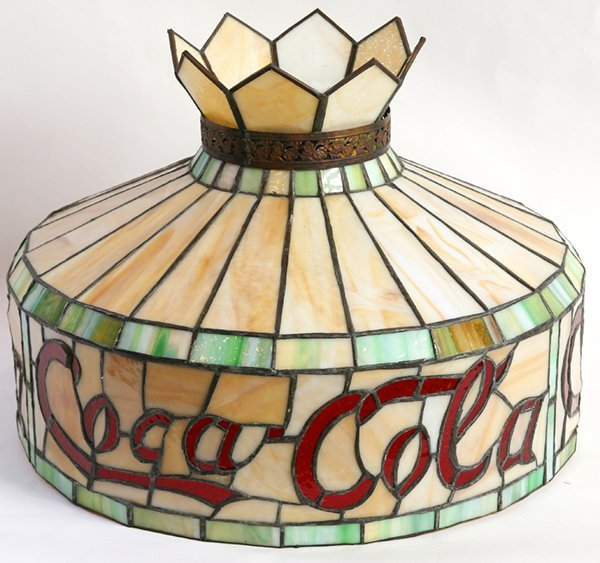 COCA-COLA LEADED GLASS HANGING SHADE