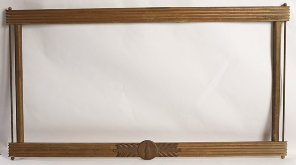 1940'S COCA-COLA GOLD WOOD & TIN FRAME FOR SIGN