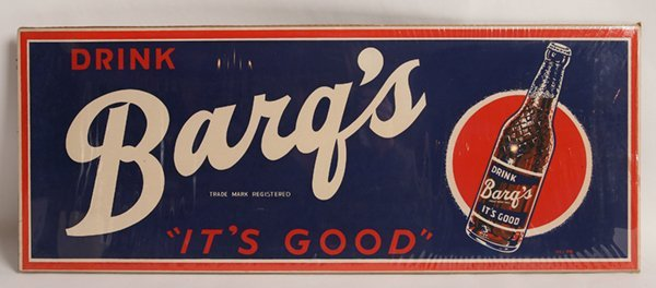 DRINK BARQ'S IT'S GOOD ROOT BEER SIGN