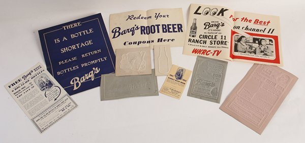 NICE GROUP OF 1940'S BARQ'S SODA ITEMS