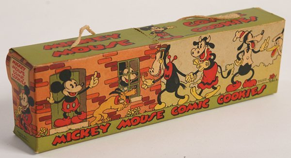 SCARCE 1930'S MICKEY MOUSE COOKIE BOX