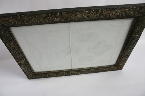 ETCHED GLASS ANHEUSER BUSCH BEER SIGN IN FRAME - 7