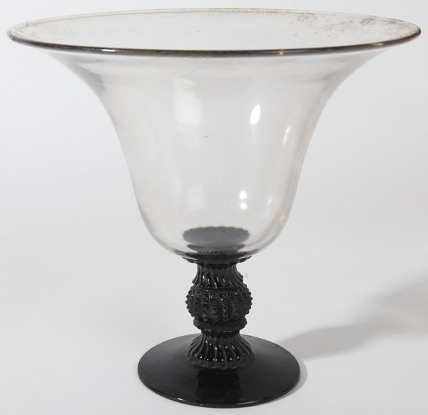 EARLY GLASS COMPOTE