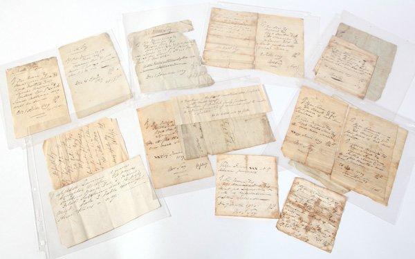 ARCHIVE OF 1820'S DOCTORS MS PRESCRIPTIONS