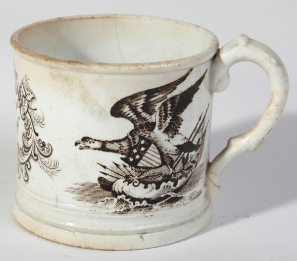 AMERICAN PATRIOTIC STAFFORDSHIRE CHILD'S CUP