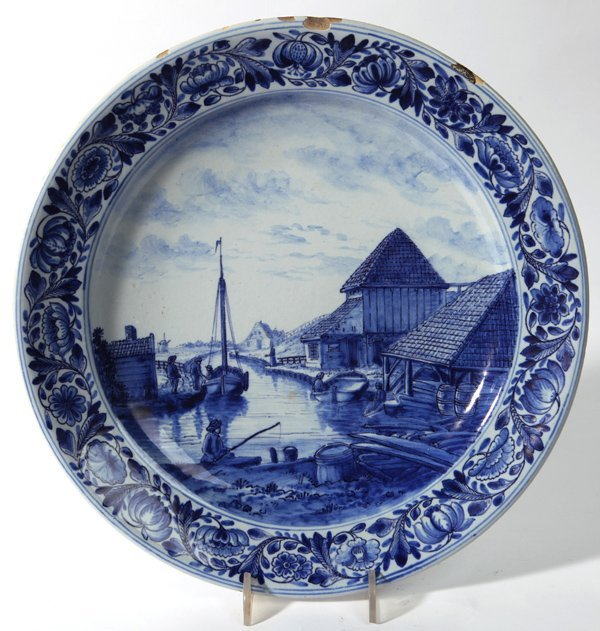 LARGE EARLY DELFT CHARGER