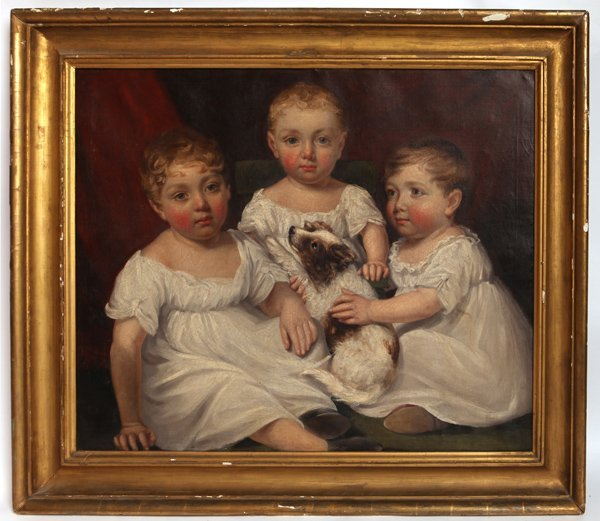 JAMES RAMSAY, 1806 OIL PAINTING OF THREE SISTERS