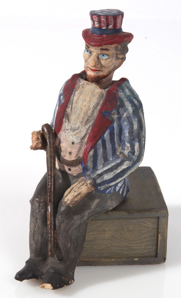 FOLK ART UNCLE SAM NODDER