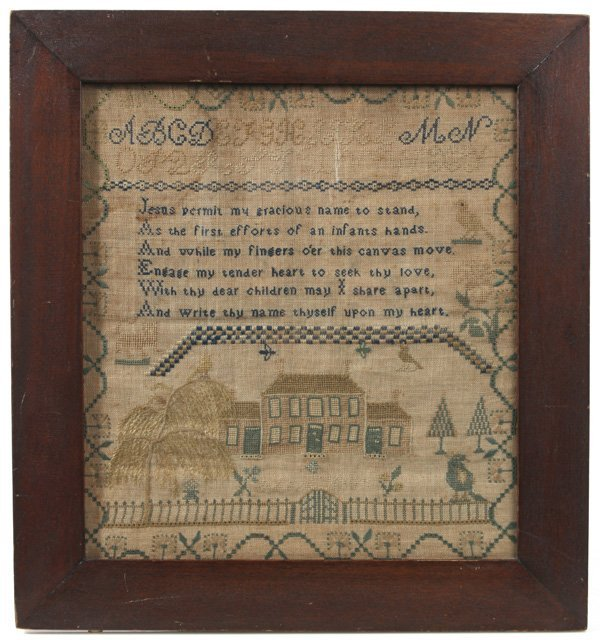 EARLY AMERICAN NEEDLEWORK SAMPLER