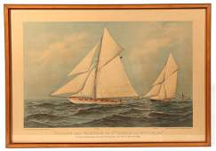 AMERICAS CUP ORIGINAL CURRIER  IVES