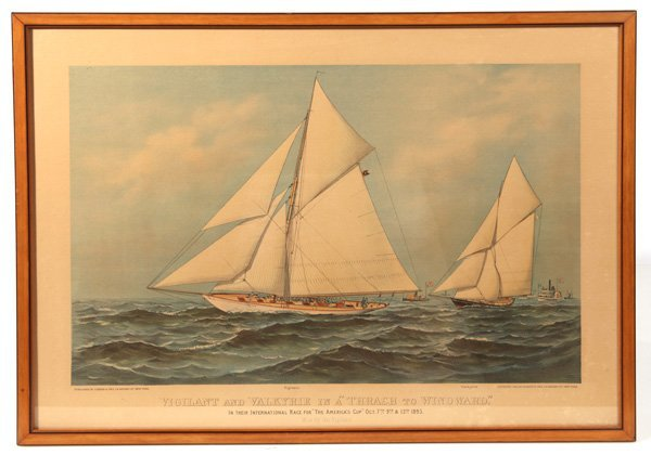 AMERICA'S CUP ORIGINAL CURRIER & IVES