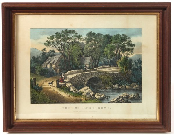 MEDIUM FOLIO ORIGINAL CURRIER & IVES