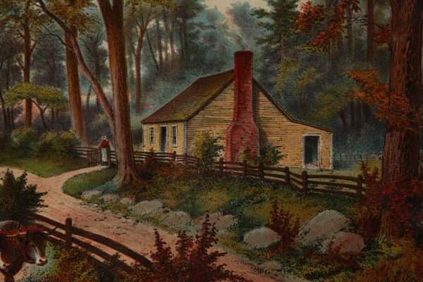 EARLY LITHOGRAPH OF GRANT'S BIRTHPLACE - 4