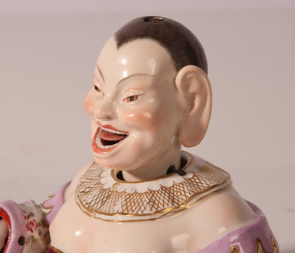 MEISSEN PORCELAIN NODDER OF CHINESE LAUGHING BUDDHA - 4