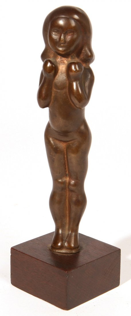 WILLIAM ZORACH (NEW YORK/CALIFORNIA) BRONZE SCULPTURE