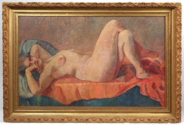 Exceptional 19th Century Impressionist Nude Oil