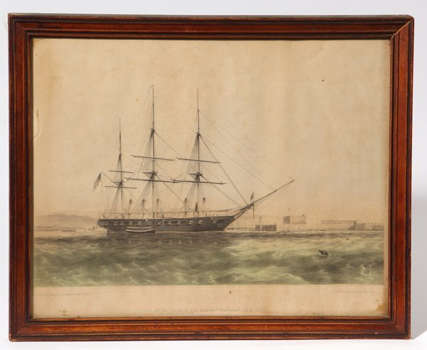 Mexican American War Hand colored Lithograph