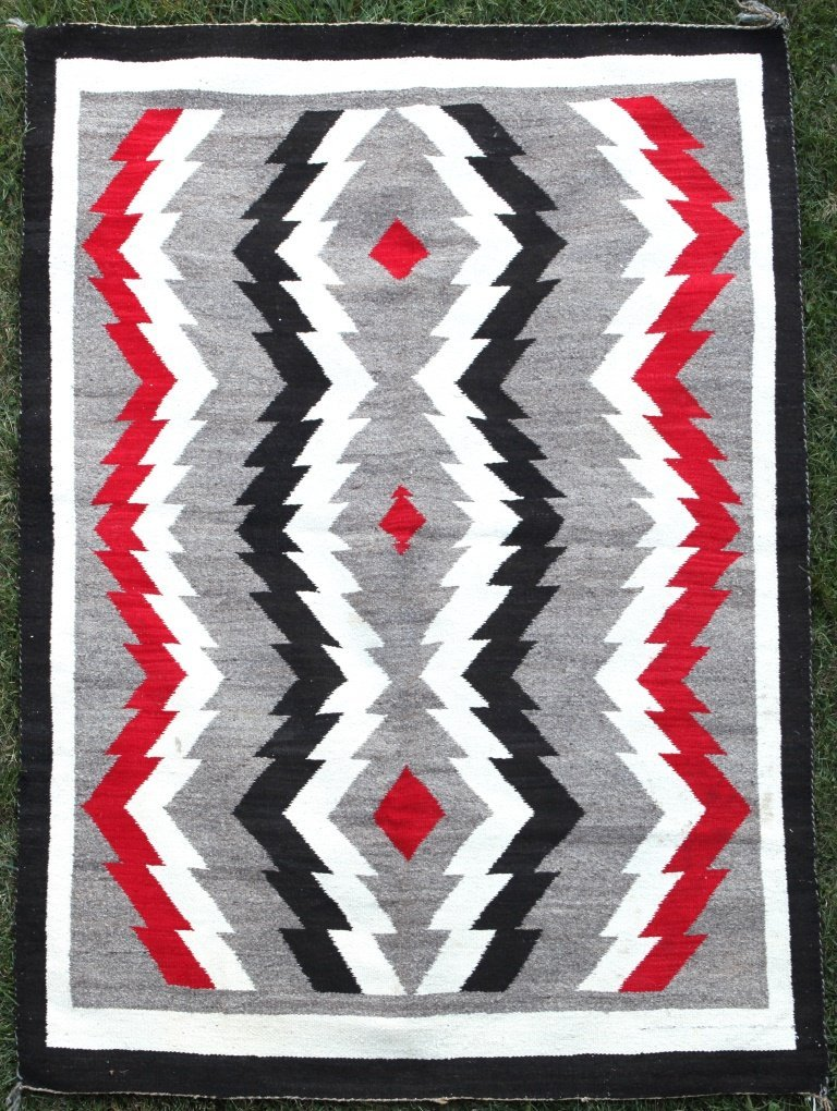 Large Native American Navajo Tribe Weaving