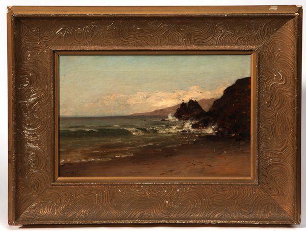 Thomas Hill (California/Ma.) Seascape Oil Painting