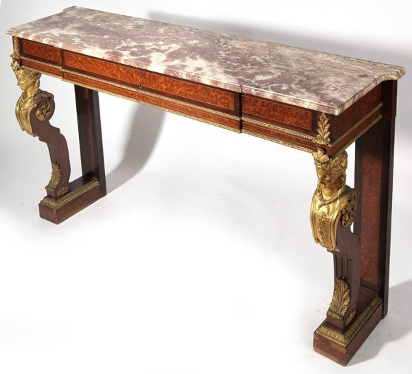 Louis XVI Ormolu Mounted Console Table