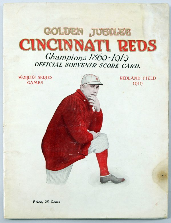 Rare Original 1919 Cincinnati Reds World Series Program