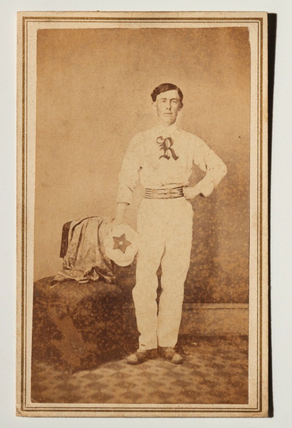 Important Autographed Baseball CDV Photo of Al Pratt - 2