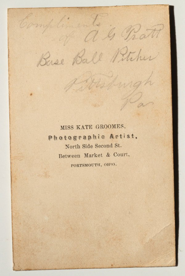 Important Autographed Baseball CDV Photo of Al Pratt - 3