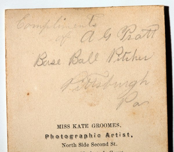 Important Autographed Baseball CDV Photo of Al Pratt - 4