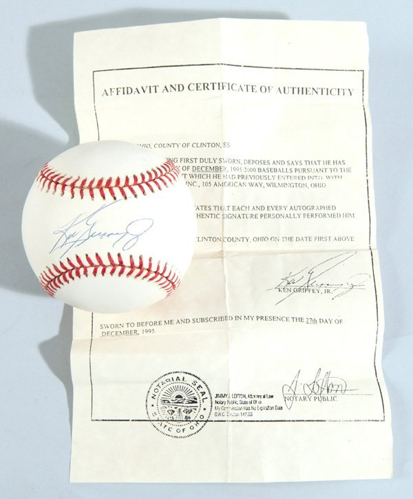 Ken Griffey Jr. Autographed Baseball - 3