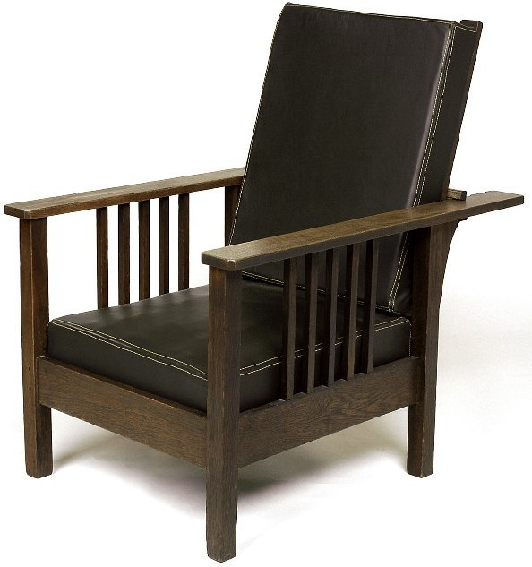 10: Stickley Brothers Morris chair attribution, with 5