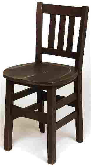 Stickley Brothers chair with 3 vertical slats in ba