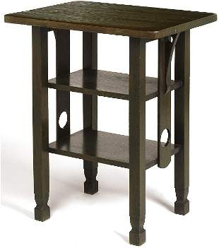 Stickley Brothers stand, #475, with round cut out s