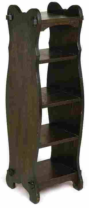 Arts and Crafts magazine stand with 5 shelves with