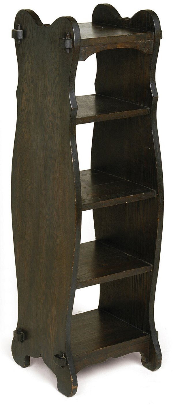 15: Arts and Crafts magazine stand with 5 shelves with