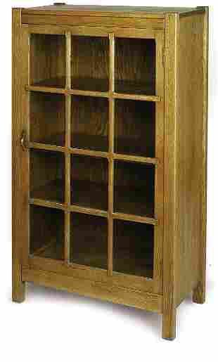 Grand Rapids bookcase, single door with 12 panes wi