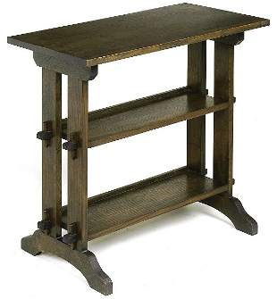 """Roycroft """"Little Journey"""" stand with keyed-tenon co"""