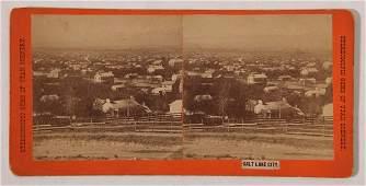 Albumen Stereoview of Salt Lake City