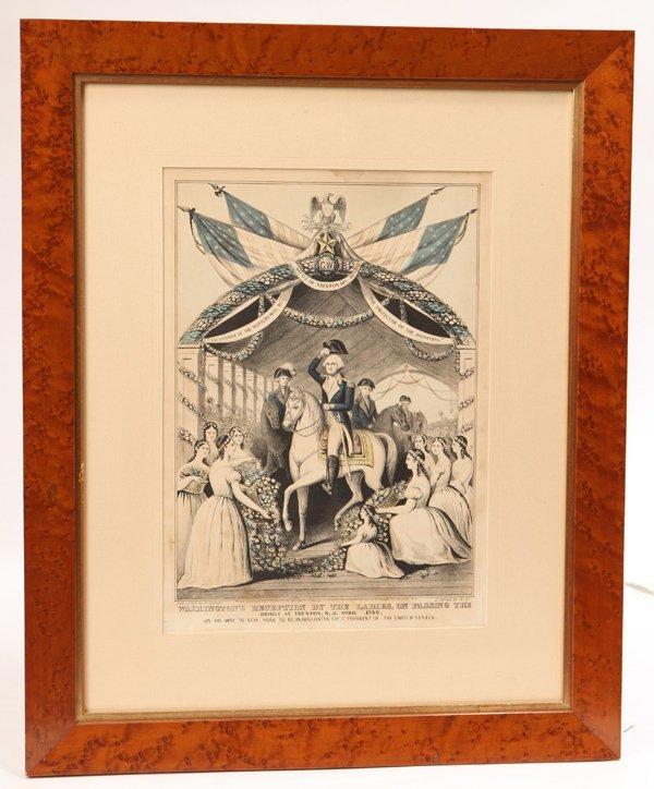 N. Currier Washington Lithograph