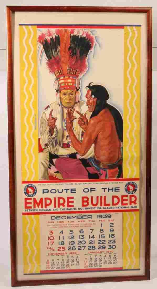 1939 Empire Builder Railroad Calander