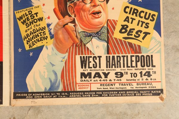 Two Billy Smarts Circus Posters - 2