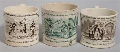Three Poor Richard Staffordshire Childrens Mugs