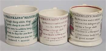 Franklins Maxins Staffordshire Childrens Mugs