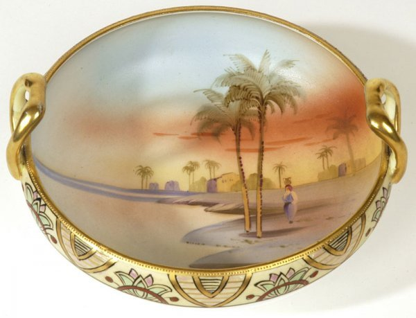 1007: NIPPON SCENIC DOUBLE HANDLED BOWL