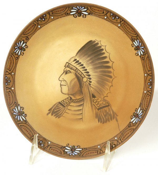 1008: NIPPON PLAQUE WITH INDIAN CHIEF