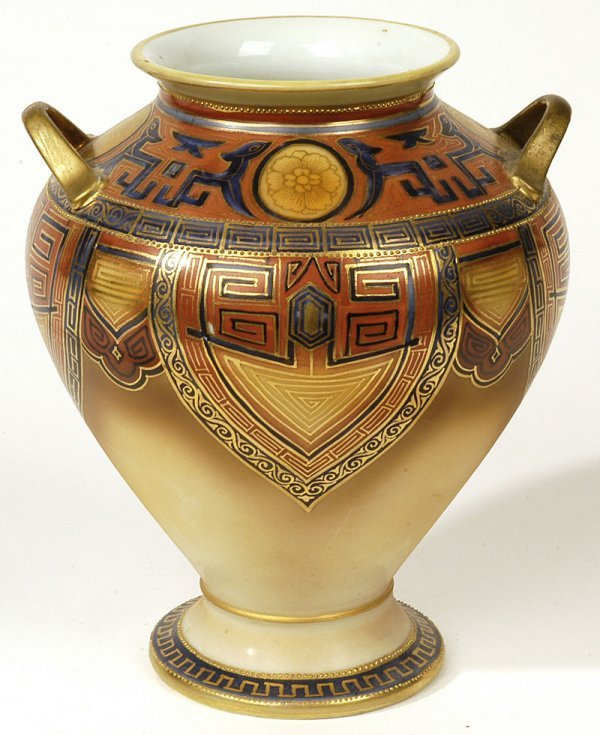1020: NIPPON VASE WITH EGYPTIAN MOTIF