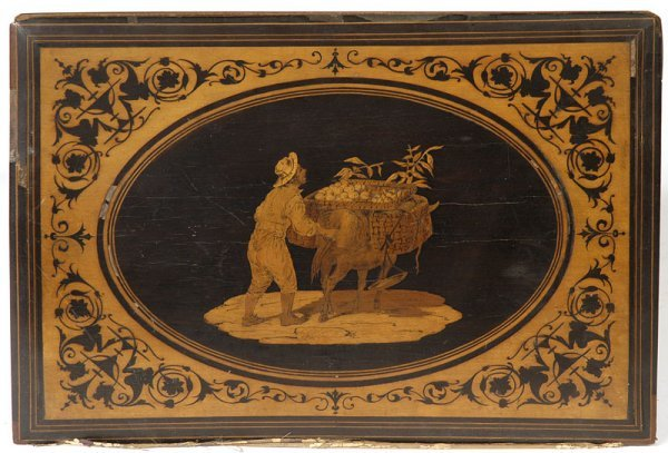 1312: SIGNED SORRENTO INLAID WOOD BOOK COVER