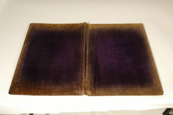 1312: SIGNED SORRENTO INLAID WOOD BOOK COVER - 4